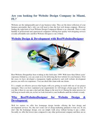Are you looking for Website Design Company in Miami, FL?