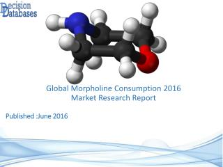 Worldwide Morpholine Consumption Industry Analysis and Revenue Forecast 2016