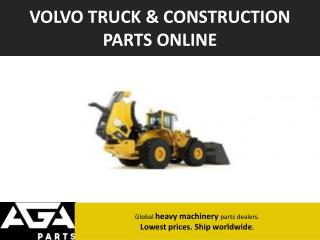 Volvo Construction Equipment Parts Dealer – AGA Parts