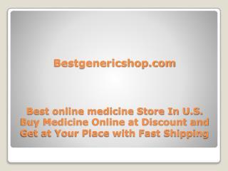 Buy Medicine Online - Bestgenericshop