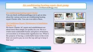 air conditioning heating repair short pump in VA