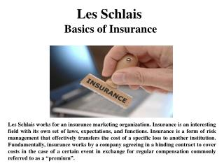 Les Schlais Basics of Insurance
