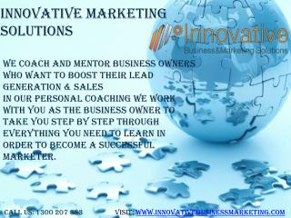 Innovative Business and Marketing Solutions