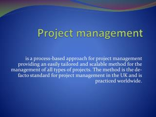 MSP-Programme management