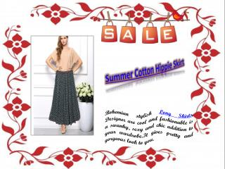Summer Cotton Hippie Skirt