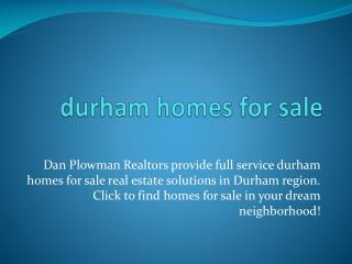 Real estate in durham