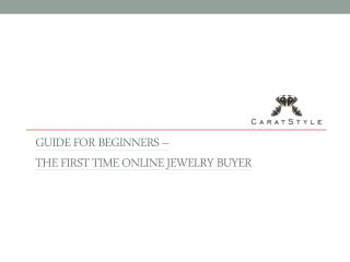 Tips for Buying Jewellery Online by Caratstyle