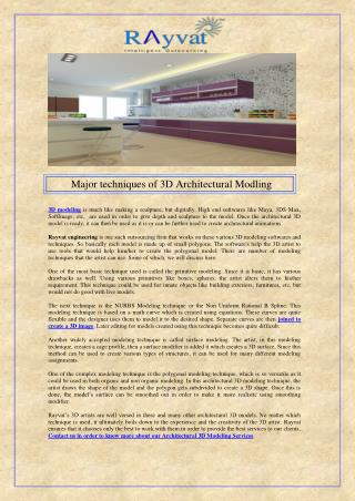 Major techniques of 3D Architectural Modling.pdf