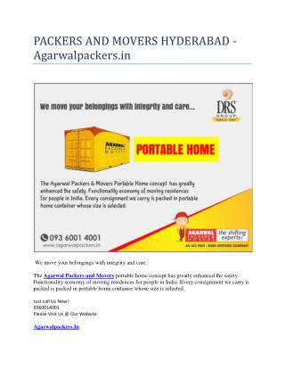 PACKERS AND MOVERS HYDERABAD - Agarwalpackers.in