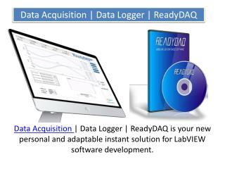 Data Acquisition | Data Logger | ReadyDAQ