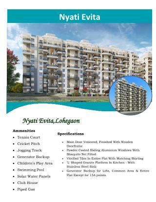 Lohegaon hosts Nyati Evita by Nyati Group with elite range of residences
