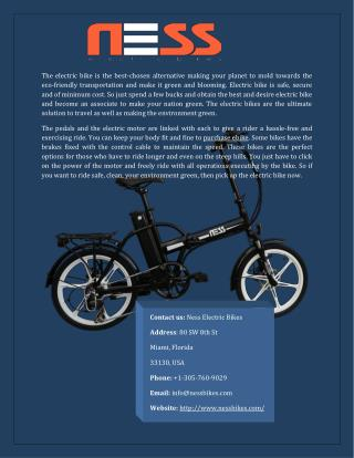 Purchase ebike Online Affordable Price
