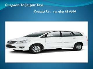 Online Booking  Gurgaon to Jaipur Taxi