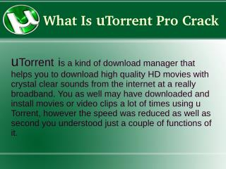 Free Download utorrent pro-crack