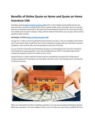 Quotes on home insurance Florida