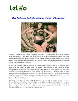 Buy Black Body Stocking For Women Online