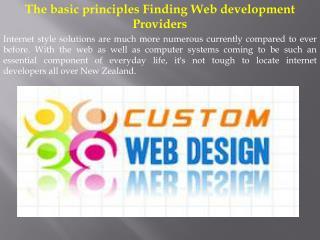The basic principles Finding Web development Providers