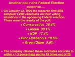 Another poll ruins Federal Election suspense .