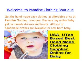 Buy Online Cheap Handmade Baby Clothes for Newborn Babies