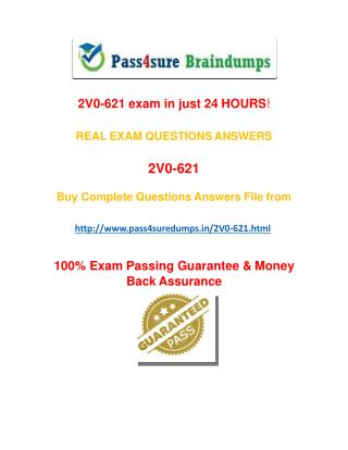 Pass4sure 2V0-621  Practice Test