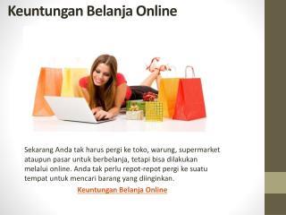 5 Keuntungan Belanja Online