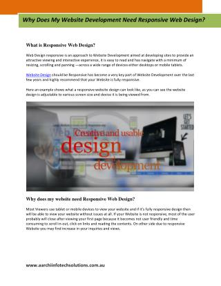 Why Does My Website Development Need Responsive Web Design?