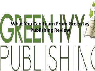 Green Ivy Publishing, green ivy books review
