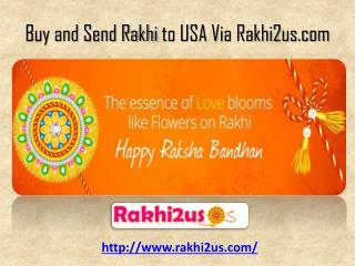 Online Rakhi Delivery in USA -  91 8510934032