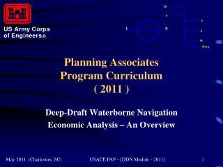 Planning Associates  Program Curriculum  2011