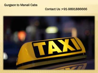 Online Taxi Service in Gurgaon to Manali