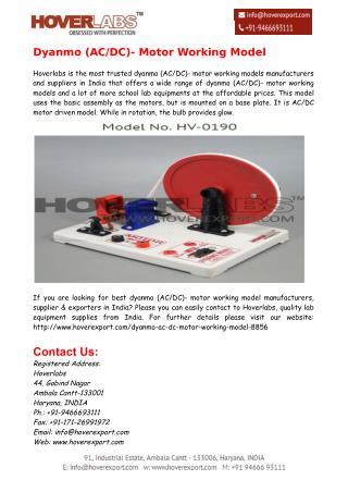 Dyanmo (AC/DC)- Motor Working Model