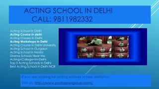 Acting School In Delhi, Acting Classes in Delhi, Best acting School in Delhi NCR