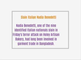 Slain Italian Nadia Benedetti