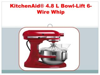 KitchenAid® 4.8 L Bowl-Lift 6-Wire Whip
