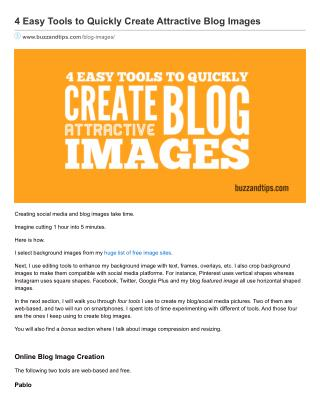 4 Easy Tools to Quickly Create Attractive Blog Images