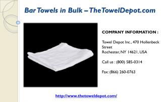 Bar Towels in Bulk – TheTowelDepot.com