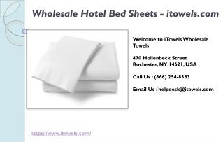 Wholesale Hotel Bed Sheets - itowels
