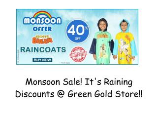 Flat 40% OFF : Chhota Bheem Raincoats | Monsoon Sale