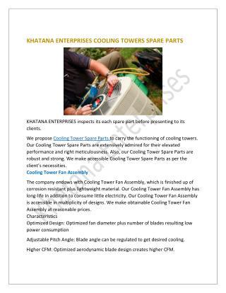 Cooling Tower Spare Part|Khatana enterprises