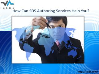 How can sds authoring services help you