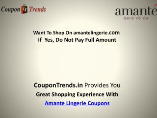 Amante Coupons