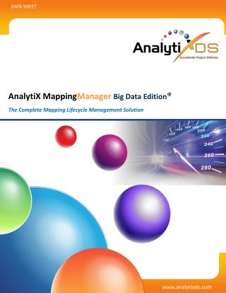 AnalytiX Mapping Manager Big Data Edition