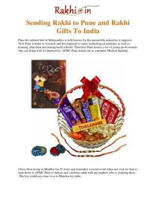 Sending Rakhi to Pune and Rakhi Gifts To India