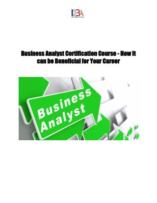 Business Analyst Certification Course