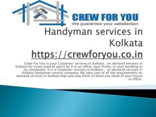 Handyman Service in Kolkata
