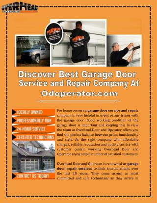 Garage Door Repair Companies