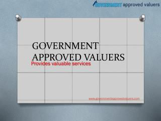 government approved valuers in India
