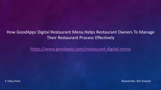 World Class Restaurant Digital Menu Restaurant Management System