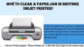 How to clear a paper jam in brother inkjet printer