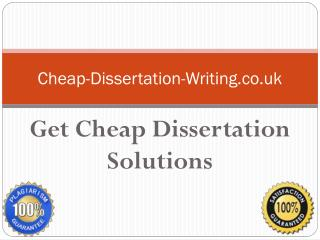 Cheap Dissertation Writing Services | Premium Help